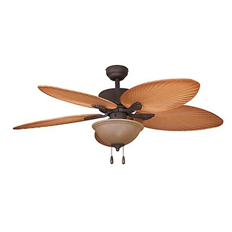bed bath and beyond ceiling fans sirata tropical 52 inch indoor ceiling fan in bronze bed