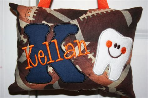 tooth pillow personalized for boys bears broncos