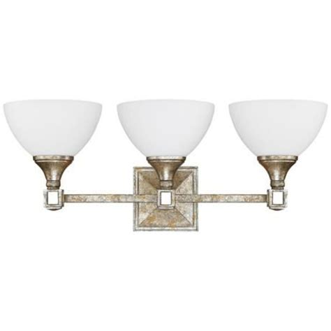 silver bathroom light fixtures palazzo 24 quot wide silver and gold leaf vanity light