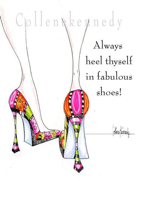 Decoupage Shoebox - illustrated high heel shoe print with shoe quote