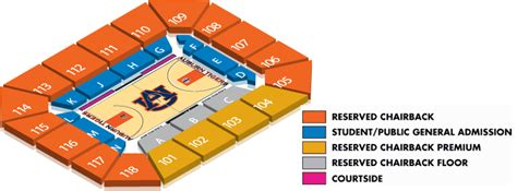 Auburn Ticket Office by Ticket Office Seating Charts