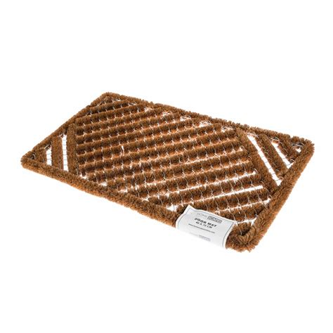 coir rubber door mat indoor outdoor use large wrought iron - Coir And Rubber Doormat