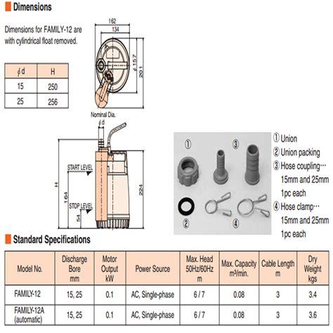 Selang Pompa Standar harga jual tsurumi family 12 a pompa celup air bersih otomatis