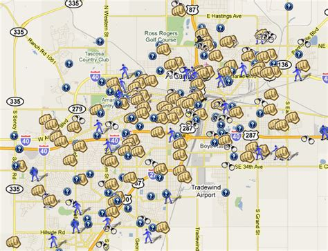 map of texas showing amarillo check out the amarillo tx spotcrime map spotcrime the s crime map