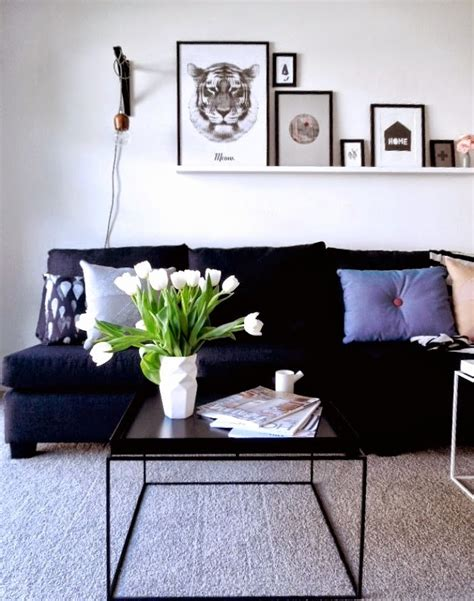 ideas para decorar salon sofa negro sofa gris oscuro facilisimo