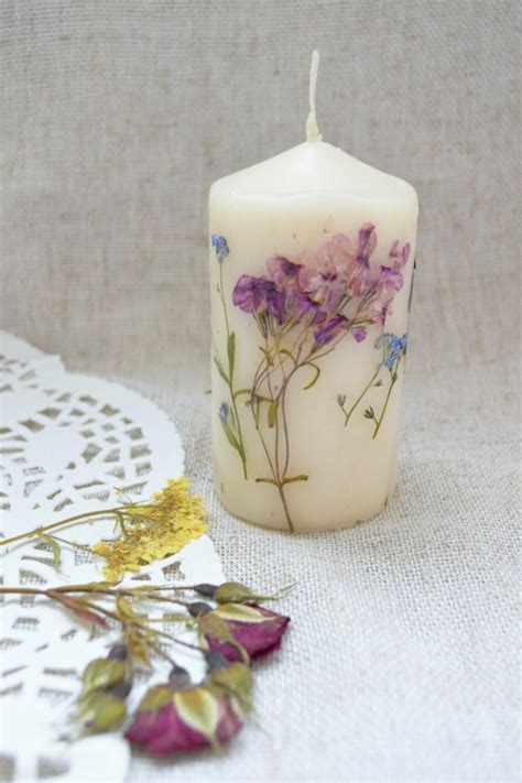como decorar flores secas ideas asombrosas para decorar velas
