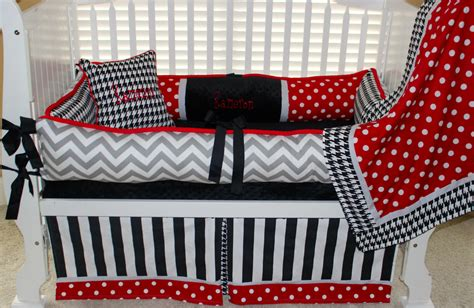Alabama Crib Bedding Custom Baby Bedding 6 Pc Set Alabama Polka Dot Grey