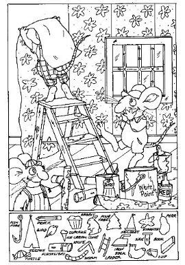 printable science hidden pictures the gallery for gt treasure box coloring page