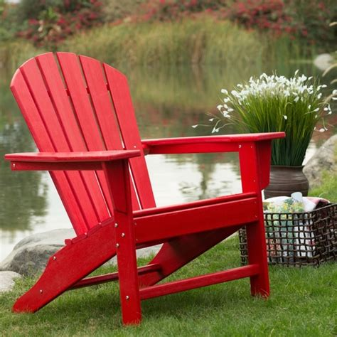 Outdoor Patio Seating Garden Adirondack Chair In Red Heavy Heavy Duty Resin Patio Chairs