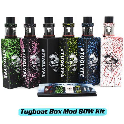 tugboat zombie mod 80w tug boat v2 box mod kit 80watt tc tug lyfe zombie