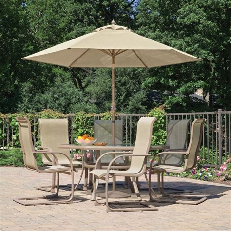 patio set umbrella houseofaura patio umbrella set oakland living elite