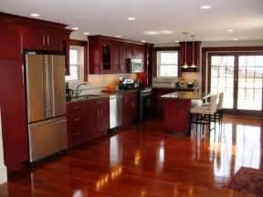 Cherry Oak Cabinets Kitchen Cherry Shaker Kitchen Cabinets Home Design Ideas