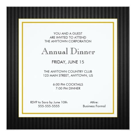 normal invitation card template black gold business professional dinner invitation