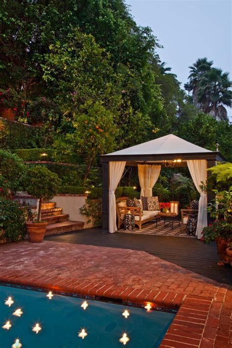 opulent transitional patio designs   spring