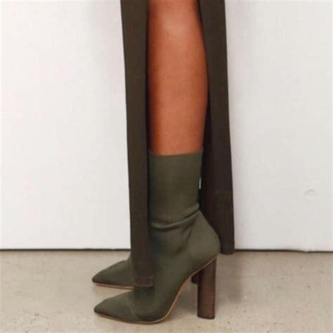 khaki high heels shoes high heels booties green khaki wheretoget
