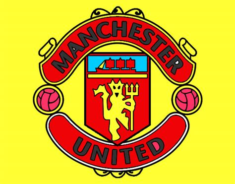 Colored Page Manchester United Fc Crest Painted By Matty Manchester United Colouring Pages