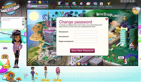 www moviestarplanet passwords com how do i change my password moviestarplanet