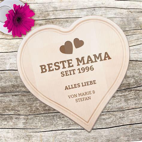 graviertes holzherz beste mama von herzen mit deinen namen