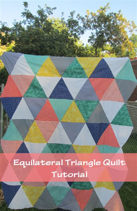 Quilting With Triangles by Quackadoodle Quilt Equilateral Triangle Quilt Tutorial