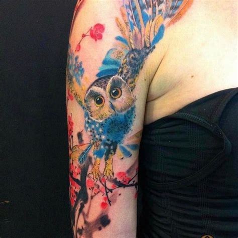 blue owl tattoo reviews 122 amazing owl tattoos their meanings