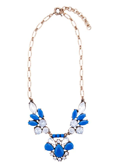 Z049 Ma Blue Necklace blue statement necklace www imgkid the image kid