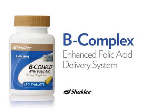 Ahli Vitamin B Complex Shaklee B Complex Asid Folik Semulajadi