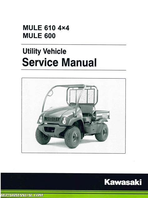 service manual 2005 2016 kawasaki kaf400 utv mule 610 4 215 4 600 service manual