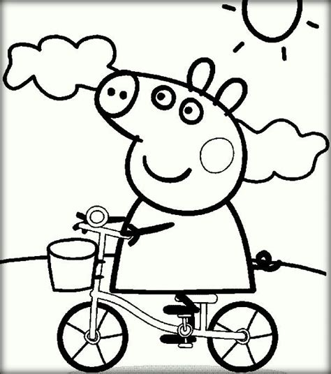 peppa pig car coloring pages peppa pig coloring pages for print and color color zini