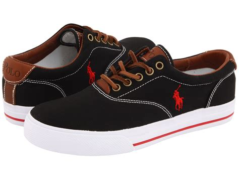 polo shoes polo ralph vaughn canvas leather zappos free