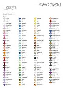 swarovski color chart colour charts
