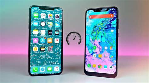 iphone xs max  pocophone  speed test shocking