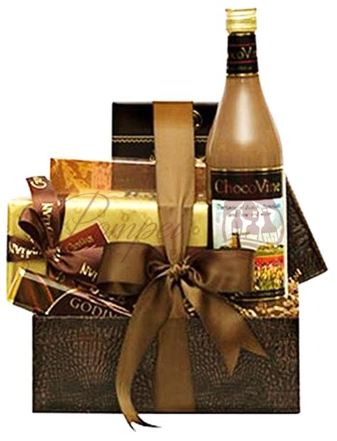 comforting gifts comforting cocoa wine gift basket by pompei baskets