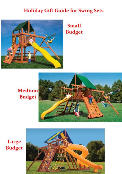 holiday for swing holiday gift guide for swing sets superior play systems