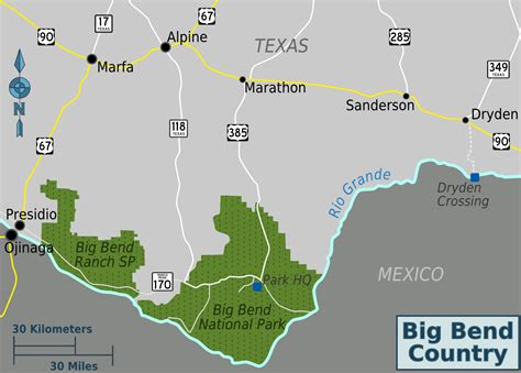 big bend national park map file big bend area map png wikimedia commons