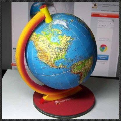 14 best photos of paper model of a globe paper globe