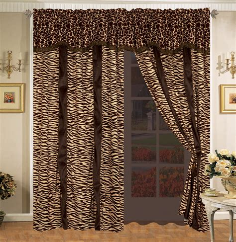 safari curtains 19 pc safari comforter curtain sheet set zebra giraffe