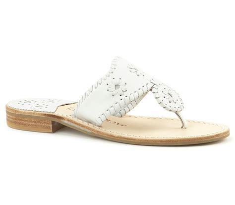 palm sandal rogers white narrow palm sandal lyst