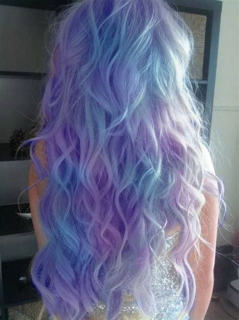 hairstyles for long dip dyed hair light purple blue dip dyed hair cute hair styles