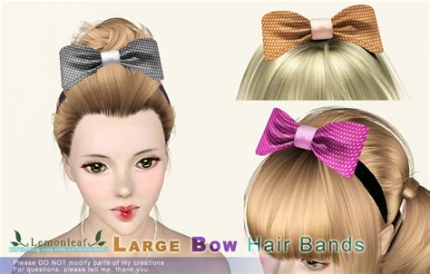 sims 3 custom content females hair bow sims 3 custom content haie bow ts3 hair bow conversion