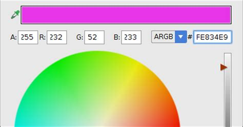 layout xml color android er android studio color chooser when edit color