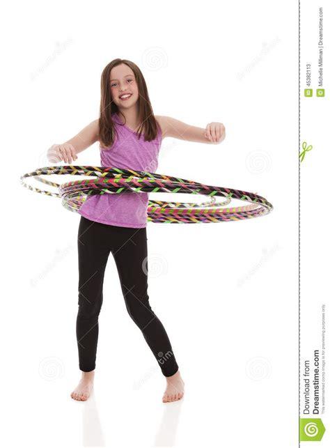 portrait preteen swimsuit holding hula hoop stock photo hula hoop fun stock photo image 45382113