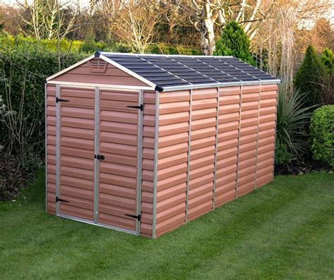 palram 6 x 12 ft amber quality plastic sheds