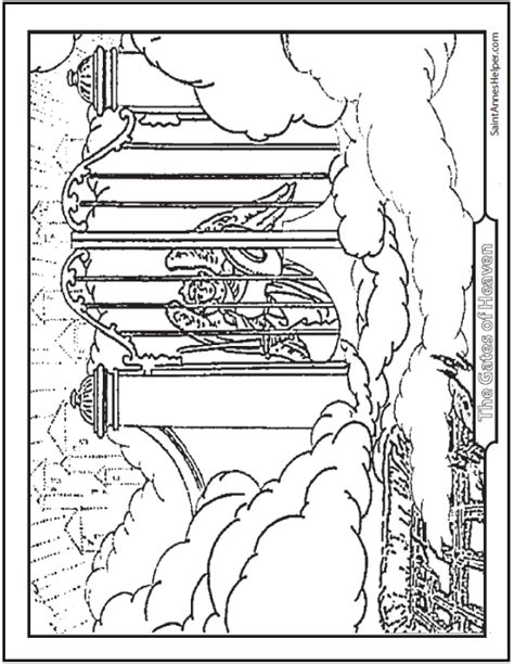coloring page heaven heaven coloring page at the gates