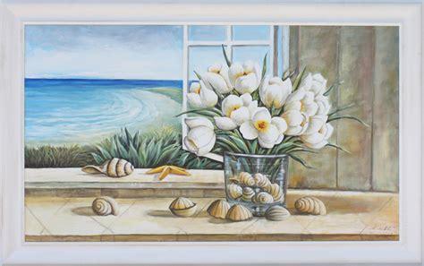 immagini quadri fiori quadro dipinto con fiori e paesaggio dipinto olio su tela