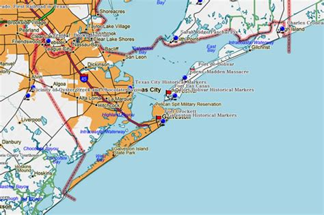 map of texas galveston map of galveston world map 07