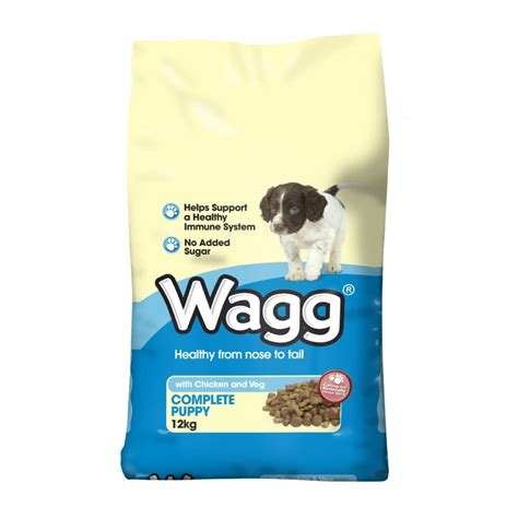 all puppy food wagg complete puppy food with chicken veg 12kg feedem