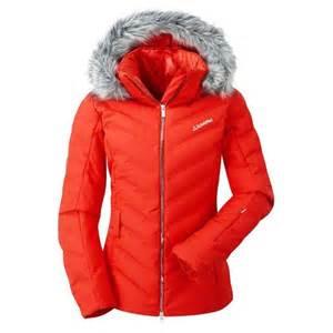schoffel ski jacket women s courchevel red