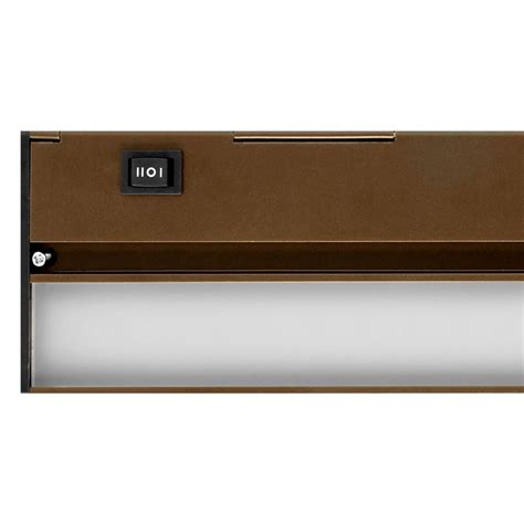 under cabinet light switch nicor nuc 21 in led oil rubbed bronze under cabinet light