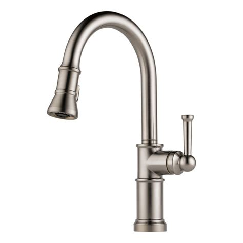 brizo kitchen faucets faucet com 63025lf ss in brilliance stainless by brizo