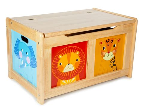 Toys Box tidlo wooden jungle design box wood storage